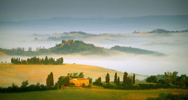 意大利托斯卡纳的山谷